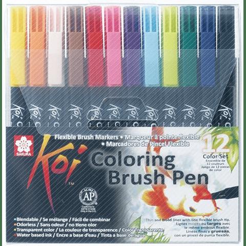 Koi - Coloring Brush Pen Acuarelables Set 12 Unidades