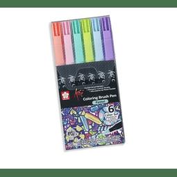 Koi - Coloring Brush Pen Set Pastel