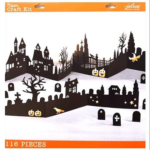 Paper Craft Kit - Halloween 3D Silhouette Decor Kit