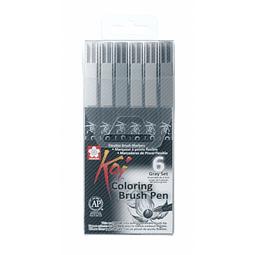 Koi - Coloring Brush Pen Set Grises