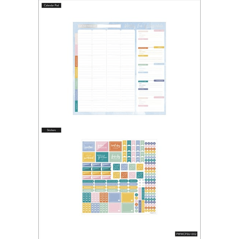 Weekly Family Schedule Wall Calendar