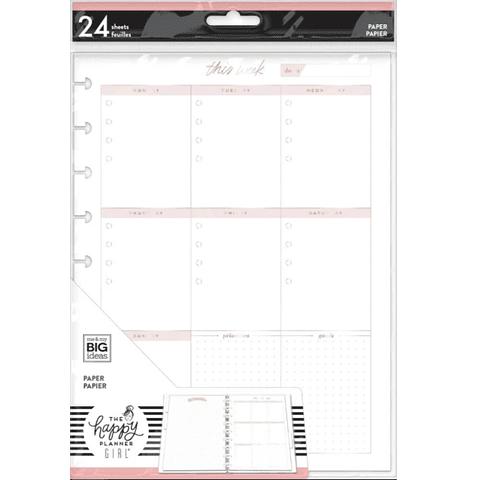 Minimalist Classic Filler Paper - Weekly Schedule