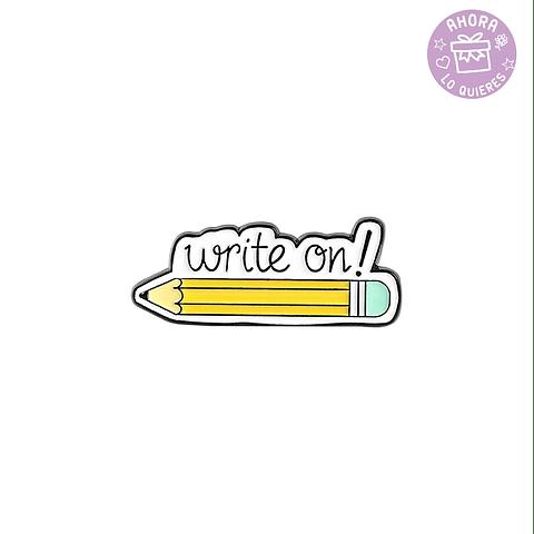 Pin Lápiz Write On