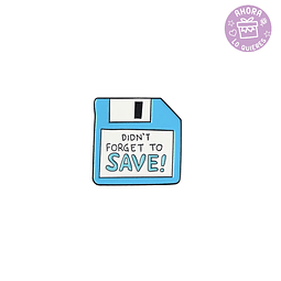 Pin Disquete Don't Forget to Save