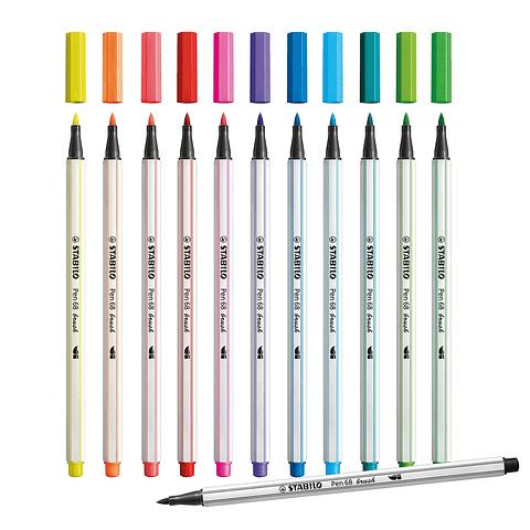 Stabilo - Pen 68 Brush Arty 12 unidades