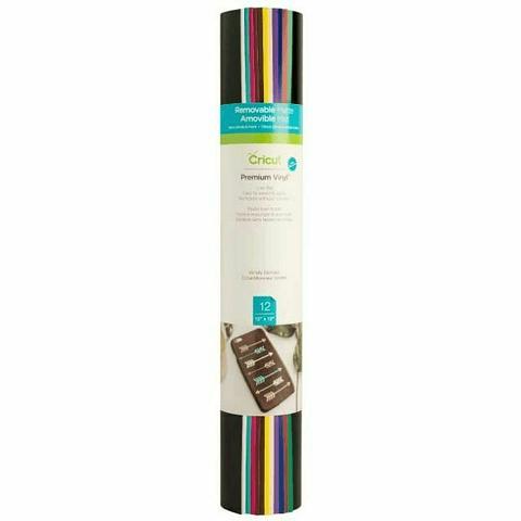 Cricut - Muestras de Vinilo Premium 12 Colores 12x12