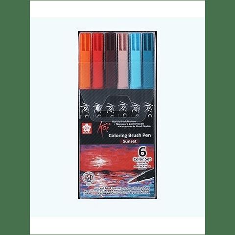 Koi - Coloring Brush Pen Set Sunset