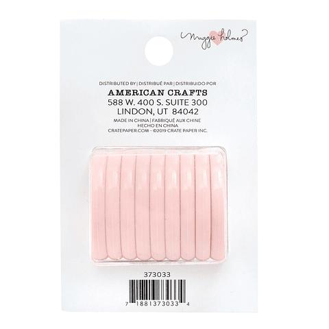 Maggie Holmes - Discos de Encuadernación Rosa Pastel 3,5cm