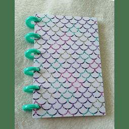 Libreta A6 Colección Sirena - Colorful Mermaid Skin