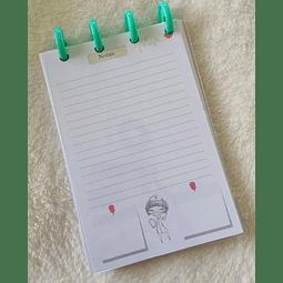 Libreta de Notas A6 - Enfermera