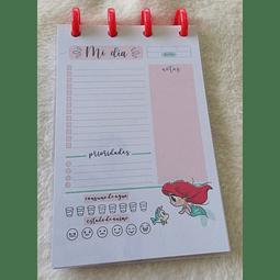 Planificador Diario A6 Princesas - Ariel