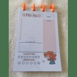 Planificador Diario A6 Princesas - Mérida