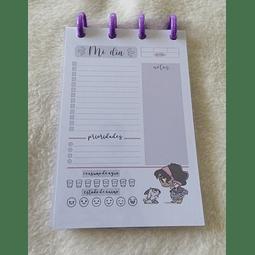 Planificador Diario A6 Princesas - Esmeralda