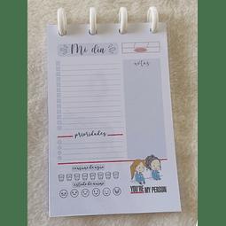 Planificador Diario A6 - Grey's Anatomy