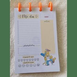 Planificador Diario A6 - Los Simpson