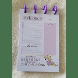 Planificador Diario A6 - Princesas - Rapunzel