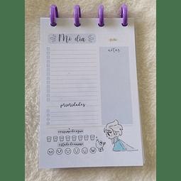Planificador Diario A6 - Princesas - Elsa