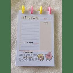 Planificador Diario - Bob Esponja