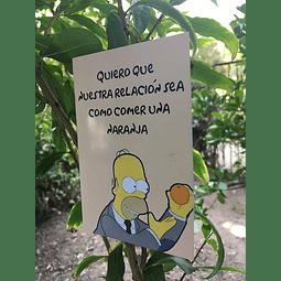 Tarjeta De Amor Ñoño - Naranja