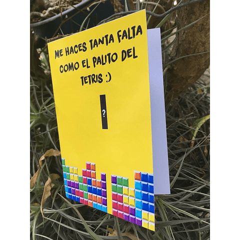 Tarjeta De Amor Ñoño - Tetris