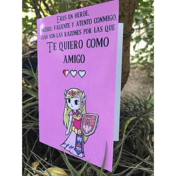 Tarjeta De Amor Ñoño - Zelda