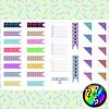 Lámina de Stickers 10 Banderitas