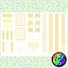 Lámina de Stickers 14 Deco Amarillo