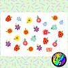 Lámina de Stickers 16 Flores