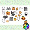 Lámina de Stickers 18 Fantasmas Halloween