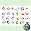 Lámina de Stickers 19 Snoopy