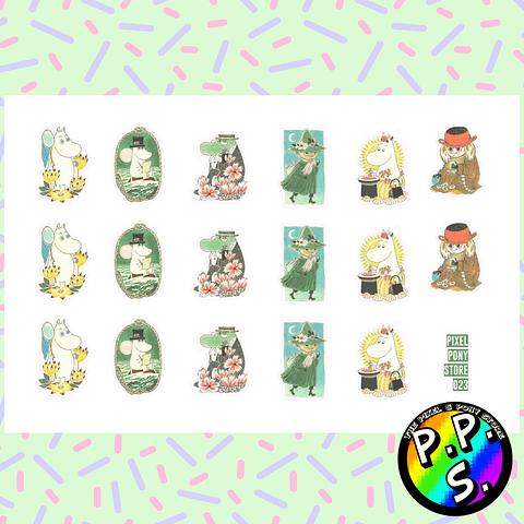 Lámina de Stickers 23 Moomins