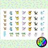 Lámina de Stickers 35 Eeveelutions