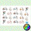 Lámina de Stickers 41 Bicicletas