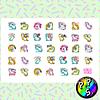 Lámina de Stickers 42B Unicornio Facebook