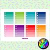 Lámina de Stickers 47 Box Lista Colores