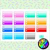 Lámina de Stickers 50 Half Box Lista Colores Corazón