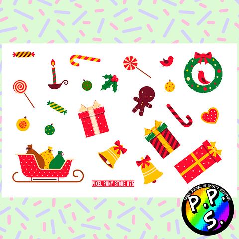 Lámina de Stickers 75 Navidad