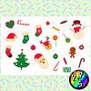 Lámina de Stickers 76 Navidad