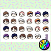 Lámina de Stickers 79 BTS DNA