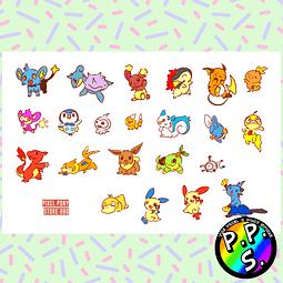 Lámina de Stickers 80 Pokemon