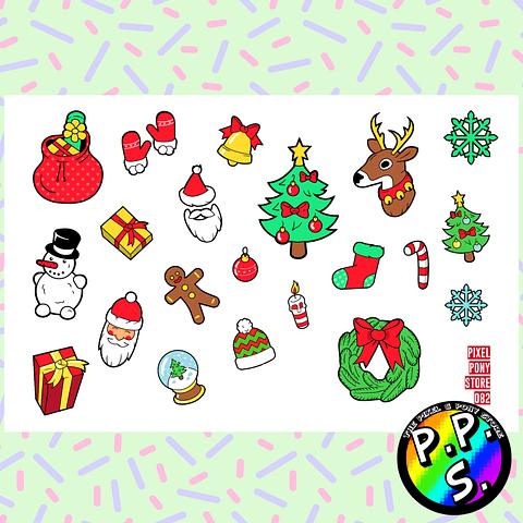 Lámina de Stickers 82 Navidad