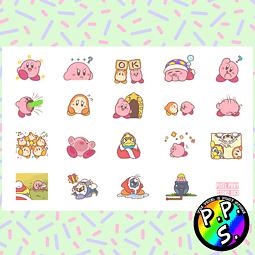 Lámina de Stickers 83 Kirby