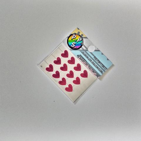 Vinilo Adhesivo Para Marcar Lápices - Corazón