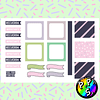 Lámina de Stickers 54 Deco Pink