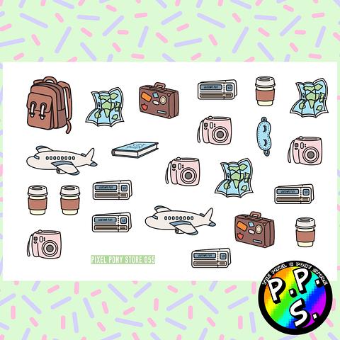 Lámina de Stickers 55 Viaje