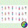 Lámina de Stickers 57 Helados