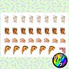 Lámina de Stickers 64 Pizza