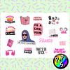 Lámina de Stickers 67 Mean Girls