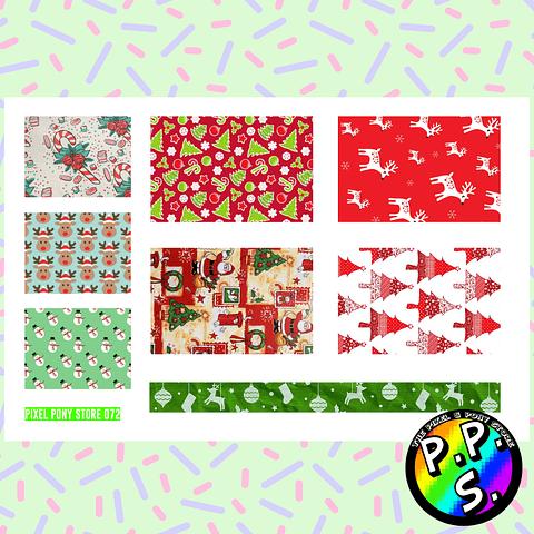 Lámina de Stickers 72 Box Navidad