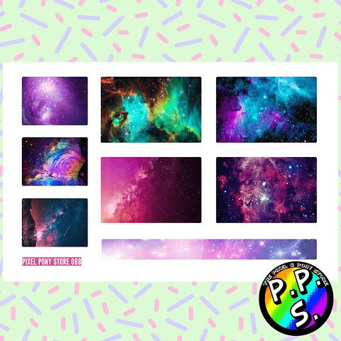 Lámina de Stickers 88 Box Galaxia